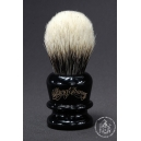 Manchurian Badger Hair Shaving Brush in Faux Ebony - Wiborg Shaving - 24mm Knot 50mm Loft - Front View