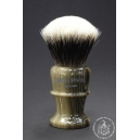 High Mountain Badger Hair Shaving Brush in Faux Horn - Wiborg Shaving - 30mm Knot 53mm Loft - Front View