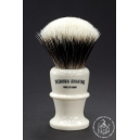 High Mountain Badger Hair Shaving Brush in Faux Ivory - Wiborg Shaving - 29mm Knot 55mm Loft - Front View
