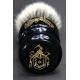 """""""The Barber"""" 26mm Bulb Shape - Weisses Dachshaar Rasierpinsel aus Ebenholz Imitat - Unteransicht"""