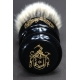 """The Barber"" 26mm Bulb Shape - White Badger Hair Shaving Brush in Faux Ebony - Bottom View"
