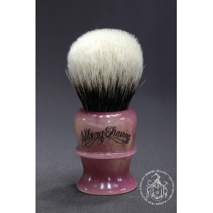 Feinstes 2-Band Dachshaar Rasierpinsel in Golden Pink - Wiborg Shaving - 25mm Knoten 47mm Loft