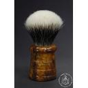 """The Basket"" 26mm Fan Shape - White Badger Hair Shaving Brush in Faux Briar - Back View"