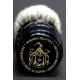 """""""The Barrel"""" 28mm Bulb Shape - White Badger Hair Shaving Brush in Faux Ebony"""