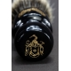 """The Pear"" 28mm Fan Shape - Weisses Dachshaar Rasierpinsel aus Ebenholz Imitat"