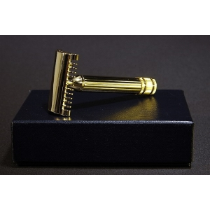 Fatip Grande Double Edge Safety Razor Open Comb - Gold