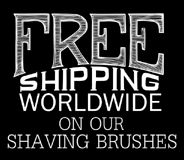 Free Shipping Worldwide on our Shaving Brushes